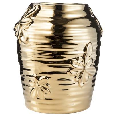Nate Berkus Floral Motif Vase | Shelves Styling | Classy Glam Living