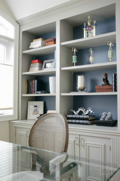 Side View | DIY Built-in Office Cabinet | Classy Glam Living