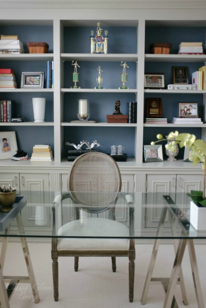 Front View | DIY Built-in Office Cabinet | Classy Glam Living