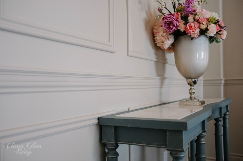 DIY Wainscoting & Chair Rail Installation | Painted in Benjamin Moore Inukshuk | Classy Glam Living