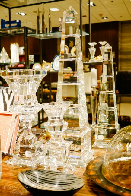 Neiman Marcus Crystal vases and obelisks collection | Classy Glam Living