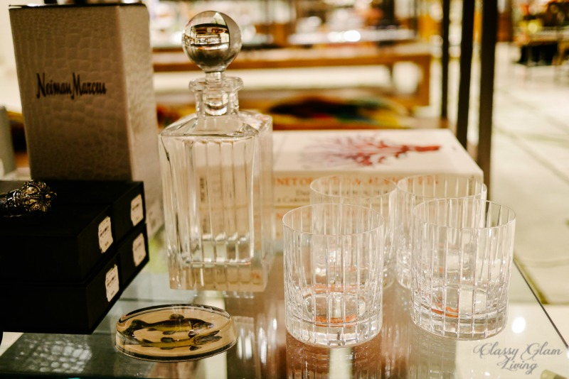 Neiman Marcus crystal decanter set | Classy Glam Living