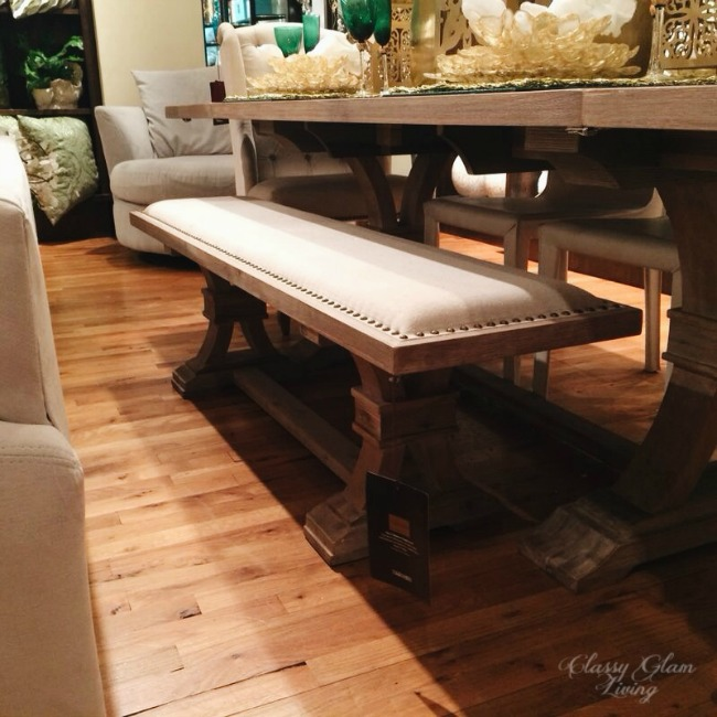 Rustic wooden bench | Z Galleries | Classy Glam Living