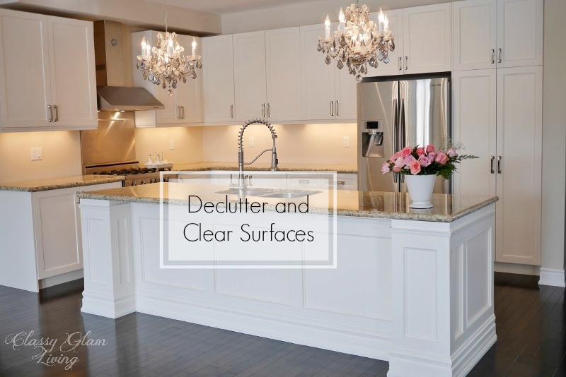 Declutter and clear surfaces | House Listing Tips | Classy Glam Living