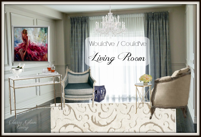 Living Room Design Board | Classy Glam Living