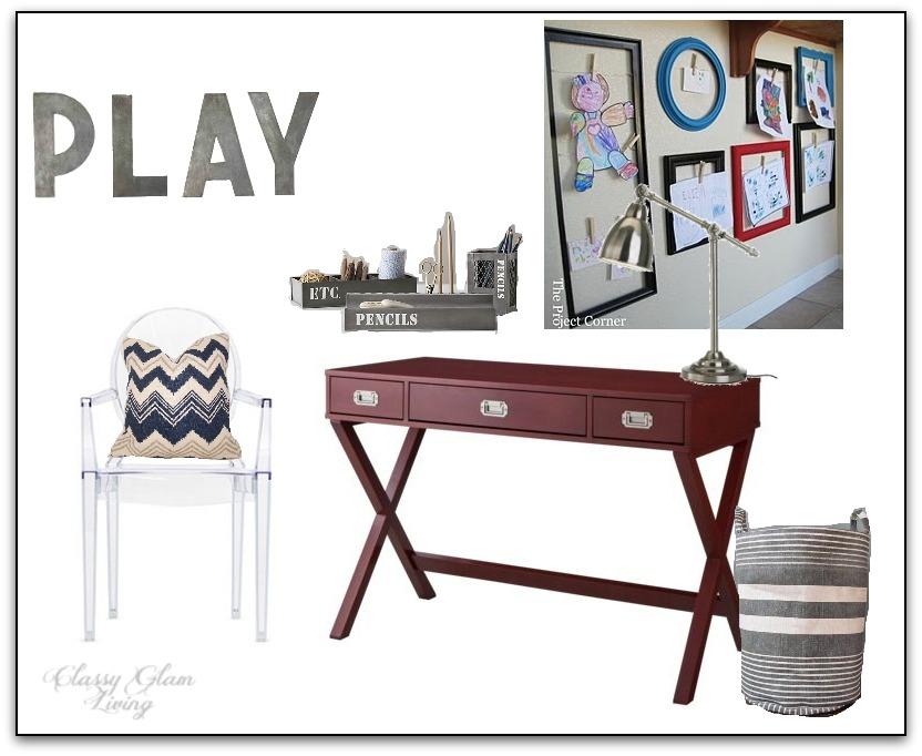 Kid Desk Work Area Design Board | Classy Glam Living