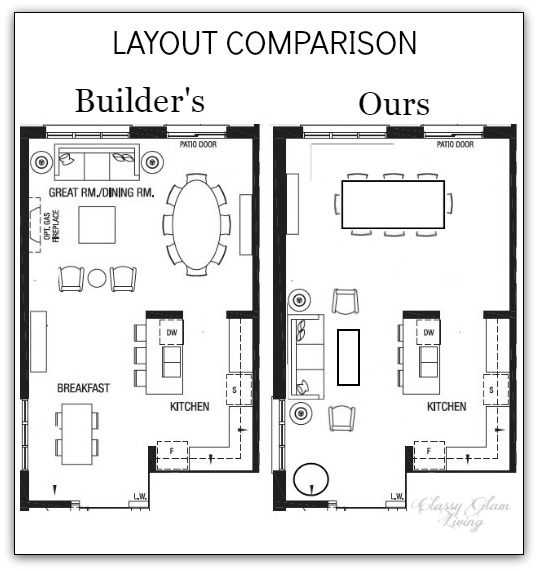 Living Room Layouts Comparison | Classy Glam Living