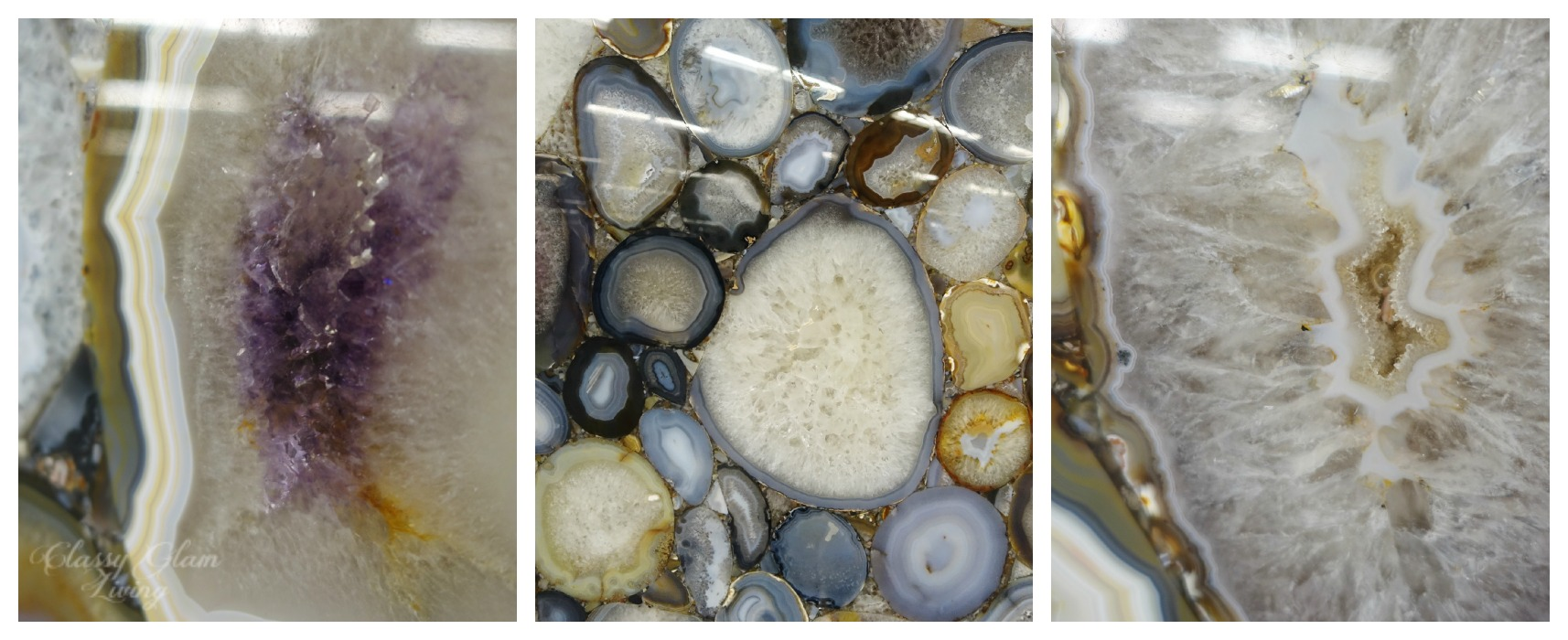 Kitchen Countertops - Marble and Look-alike Alternatives | Closeup of Geodes Slab | Classy Glam Living