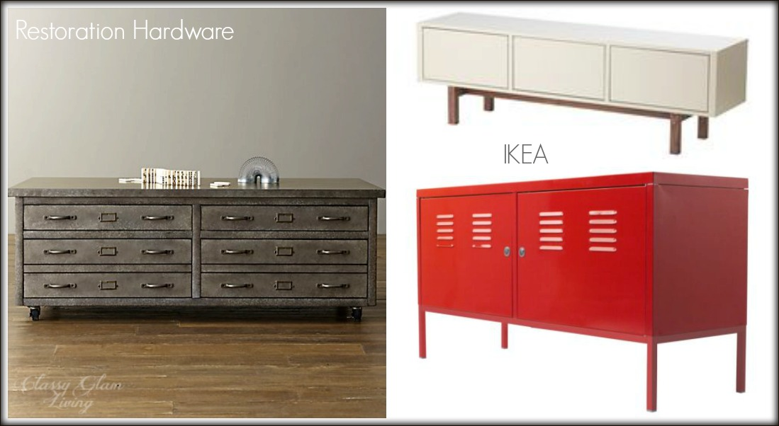 Closed Storage | Modern Industrial Playroom | Kid Space Area | Classy Glam Living