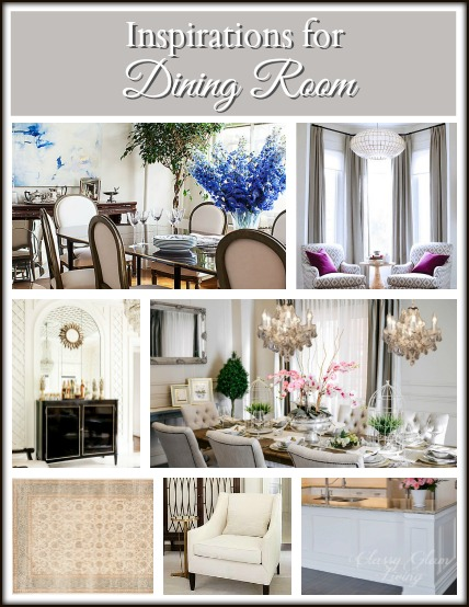 Dining Room Design Board | Classy Glam Living
