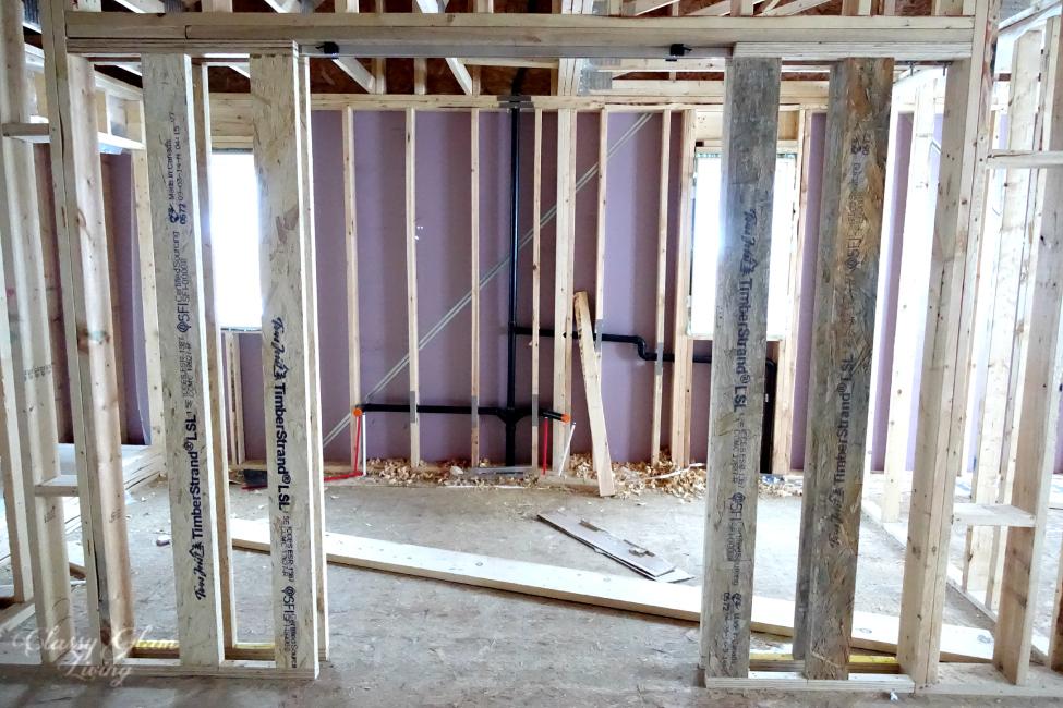 POCKET DOORS FRAMING   NEW HOUSE MASTER ENSUITE   CLASSY GLAM LIVING