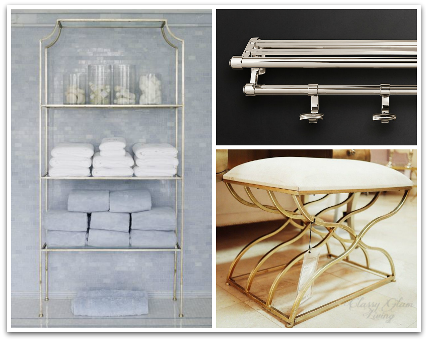 Etagere  mrs. howard personal shopper ; train rack  restoration hardware ; stool  union lighting