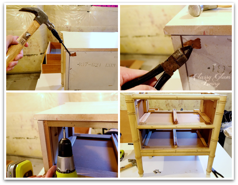 DIY Refinishng Vintage Bedside Tables | Basic Prepping Steps | Classy Glam Living