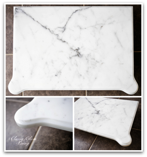DIY Refinishing Vintage Bedside Tables WITH Statuario Marble Top | Classy Glam Living