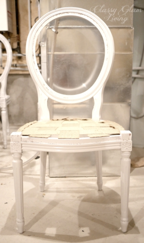 DIY refinish repaint reupholster french chairs | Classy Glam Living