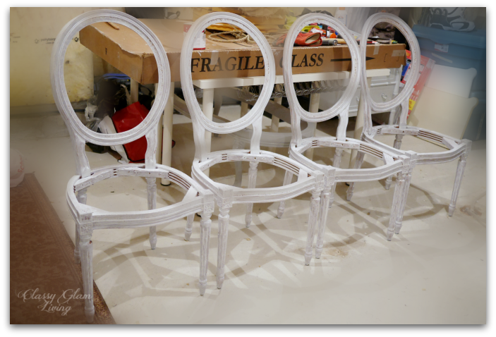 Primed chairs.