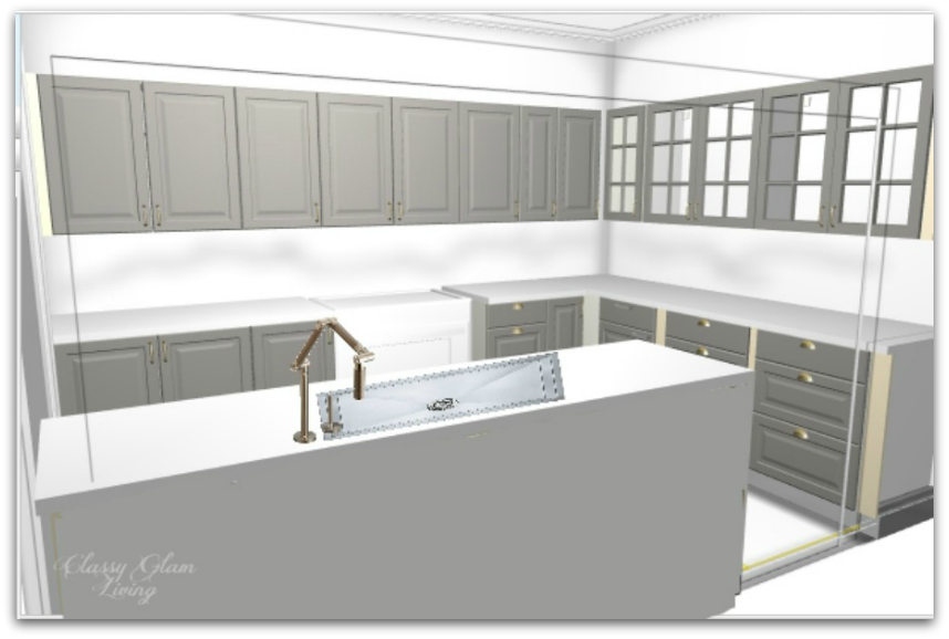 New house kitchen rendering | Classy Glam Living
