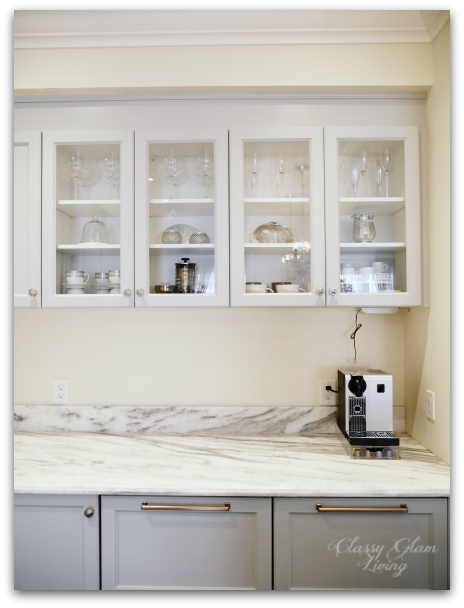 New Kitchen Update Integrated Hood Upper Cabinets Classy Glam Living