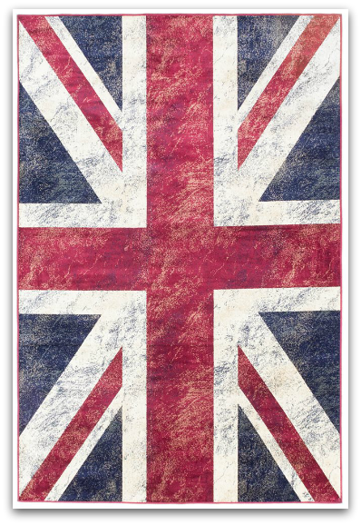 Union Jack rug by Ecarpet Gallery