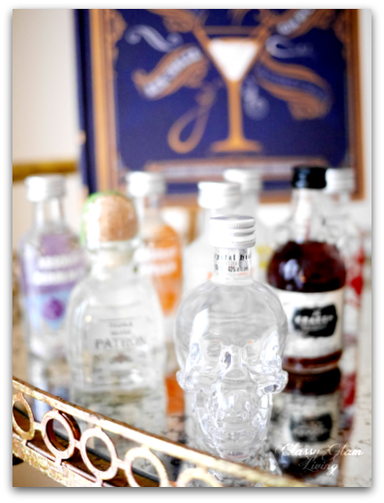 MINI LIQUEUR COLLECTION | STYLING A HOLIDAY-READY BAR CART | CLASSY GLAM LIVING