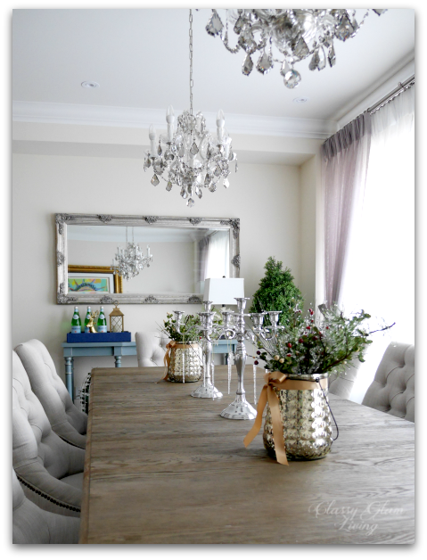 2015 Christmas Dining Room Console Table | Classy Glam Living