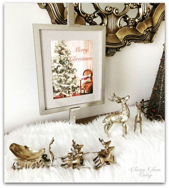 2015 Christmas Entryway Vintage Brass Accents | Classy Glam Living