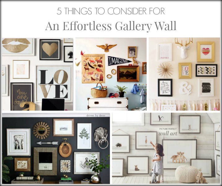5 THINGS TO CONSIDER FOR AN EFFORTLESS GALLERY WALL | CLASSY GLAM LIVING