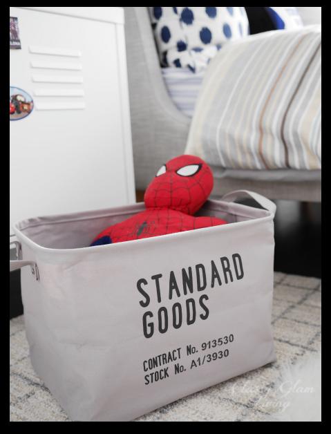 Big Boy Room Reveal   Boy's room   Kid's room   Storage basket   Classy Glam Living