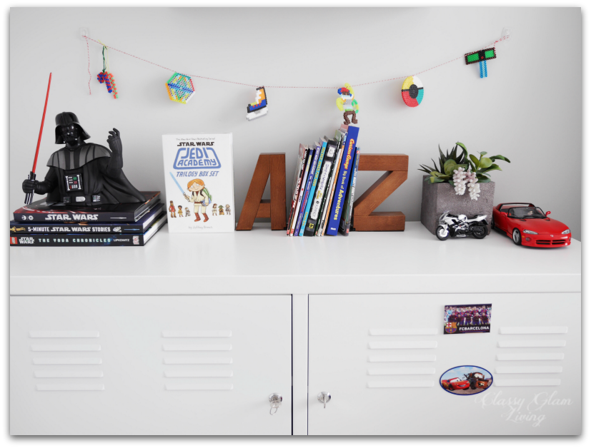 Neutral Big Boy Room Reveal   Boy's room   Kid's room   IKEA white PS cabinet   Classy Glam Living