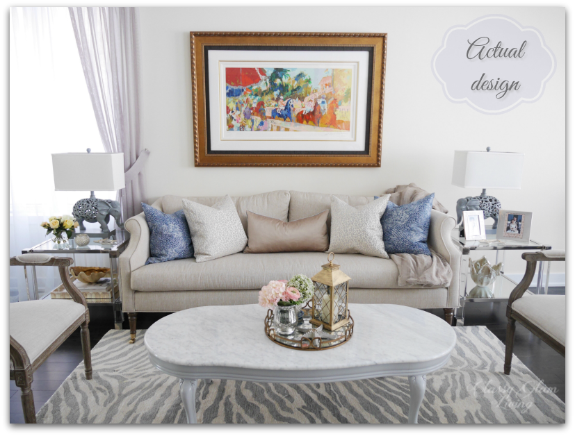 Living room reveal + styling tips | Actual design | Classy Glam Living