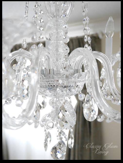 Master bedroom chandelier | Close up Schonbek 2995 | Classy Glam Living
