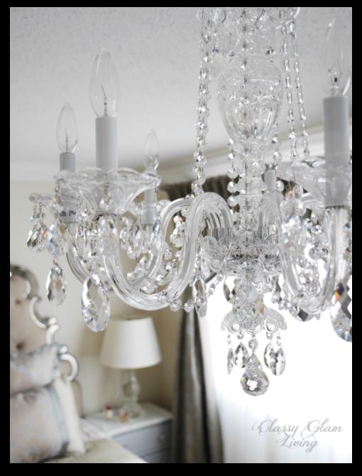 Master bedroom chandelier | Schonbek 2995 closeup | Classy Glam Living