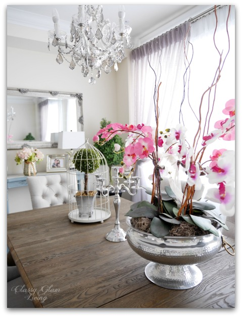 5 Home Decor Ideas for Spring | Greenery & florals | Classy Glam Living