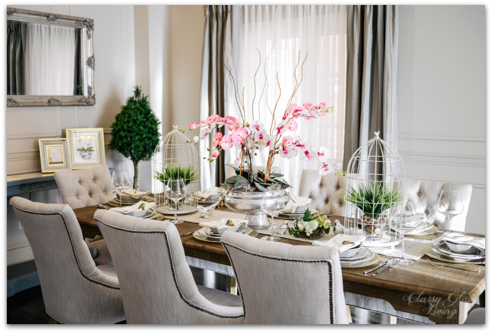 Spring Decor Dining Table Setting at Old House | Classy Glam Living