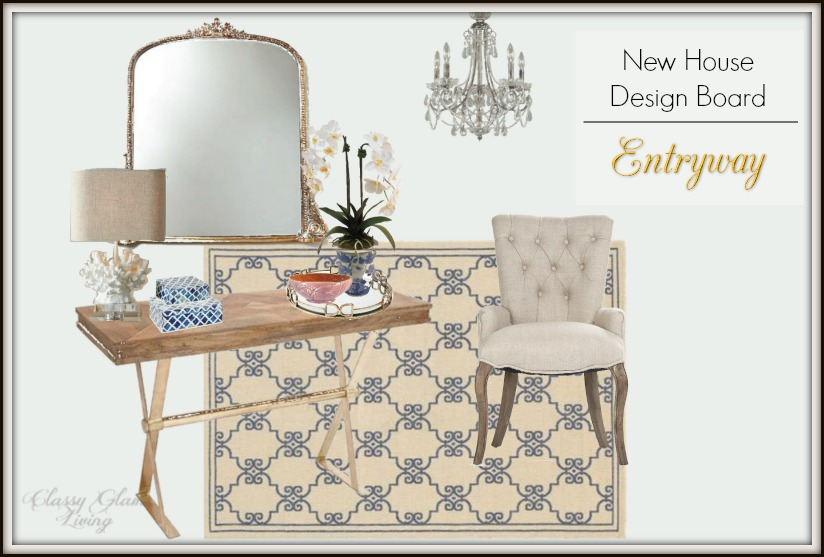 New House Entryway Foyer Design Board | Classy Glam Living