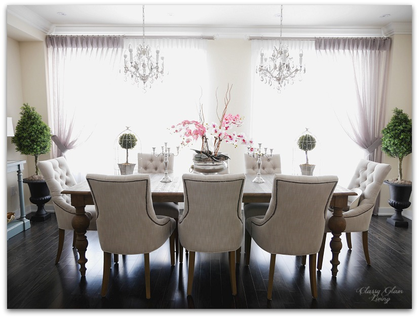 New House Dining Room Reveal | Classy Glam Living