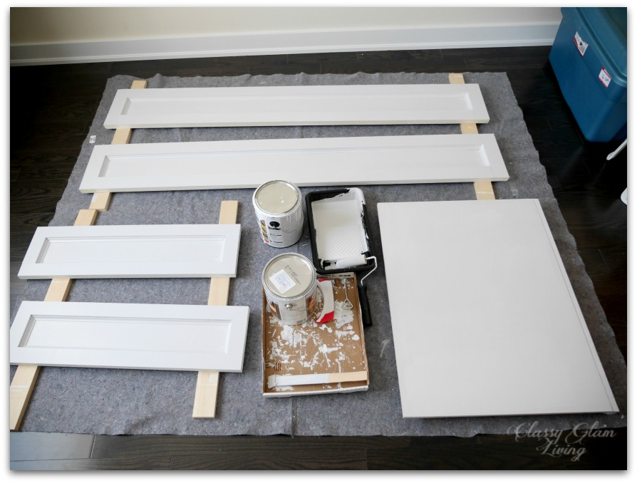 DIY Custom Dressing Room | Benjamin Moore Sidewalk Gray | Classy Glam Living