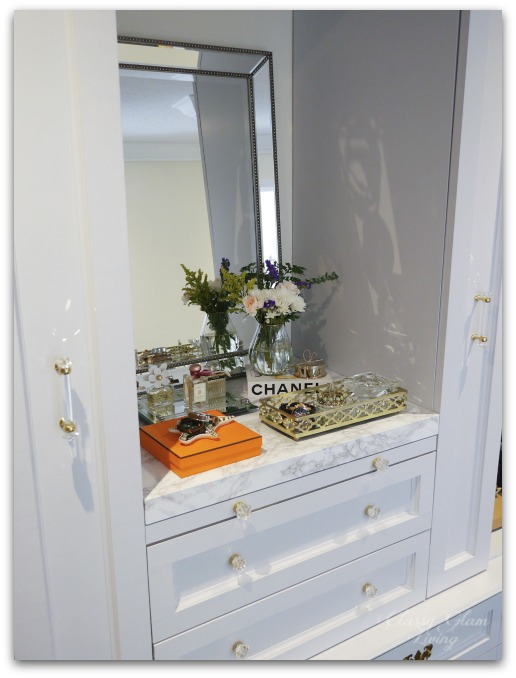 DIY Custom Dressing Room | Marble vanity top | Classy Glam Living