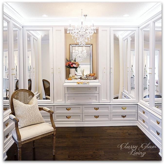 DIY Closet Dressing Room   Classy Glam Living