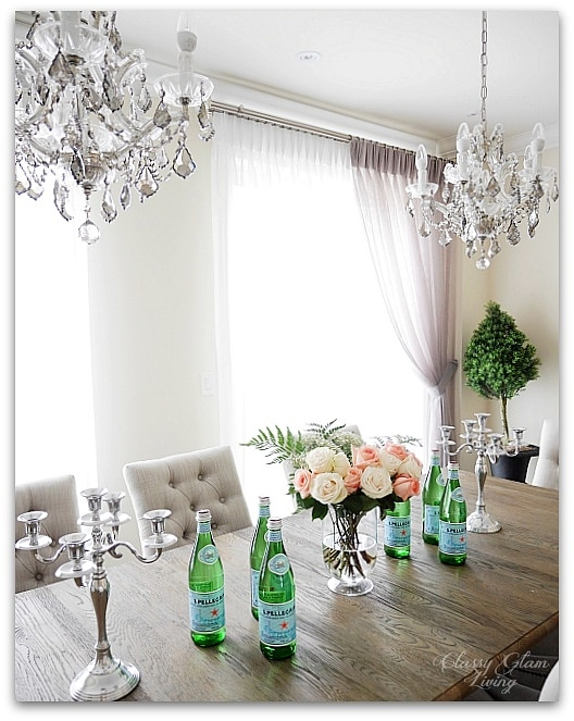 New House Dining Room | double chandelier | Restoration Hardware | Classy Glam Living