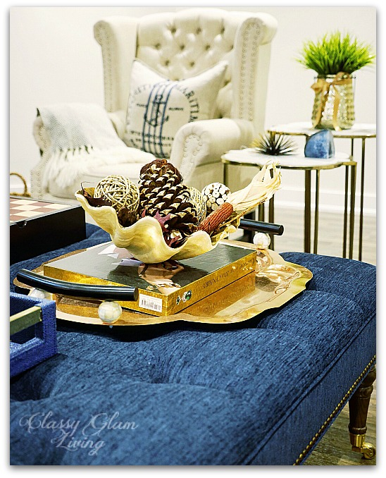 Fall Decor from HomeSense Family Room | Classy Glam Living 1