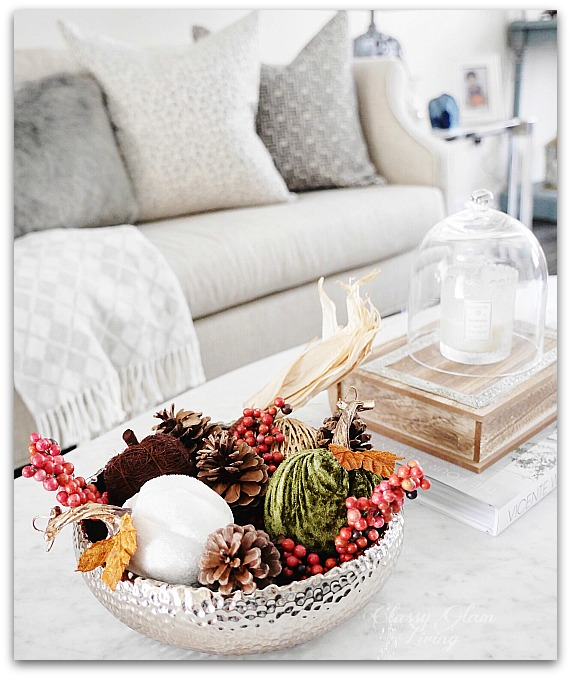 Fall Decor from HomeSense Living room family room | Classy Glam Living 3