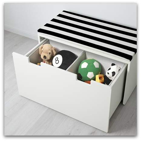 IKEA STUVA toy storage bench