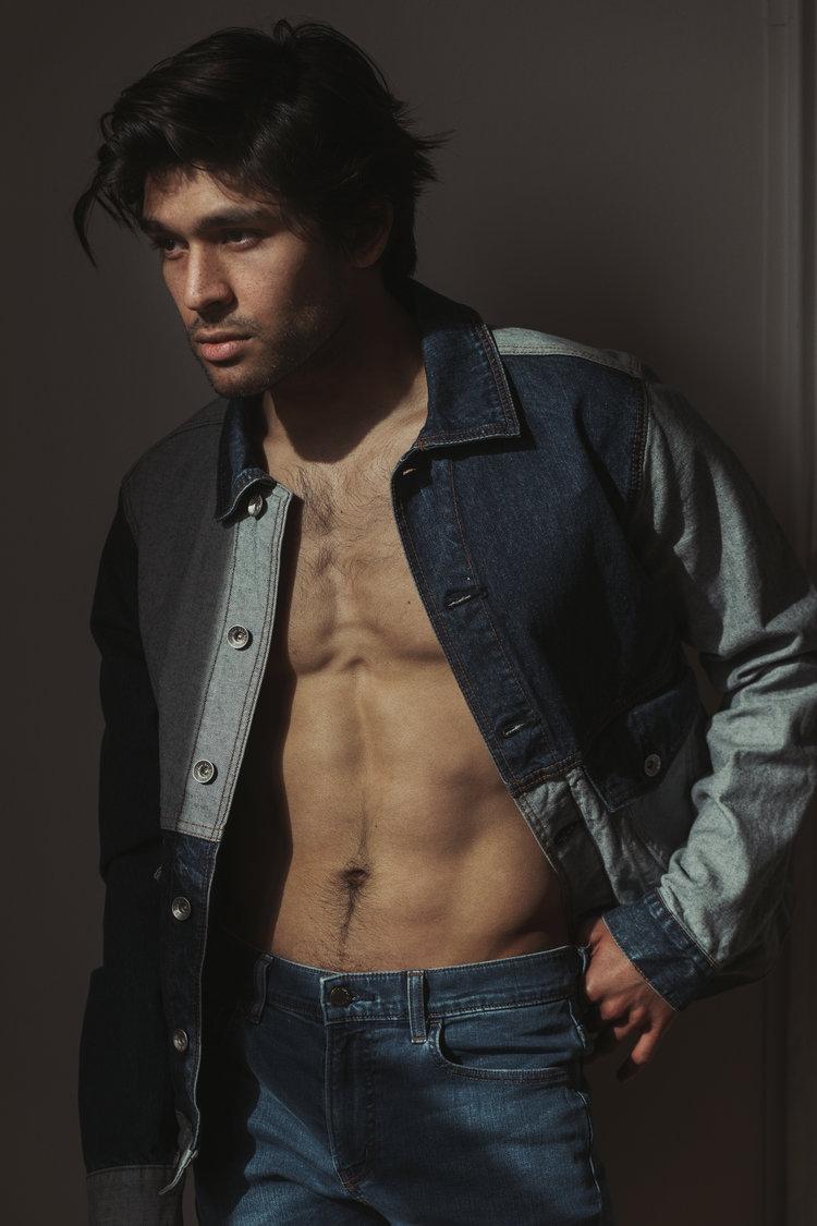 Test for a male model portfolio