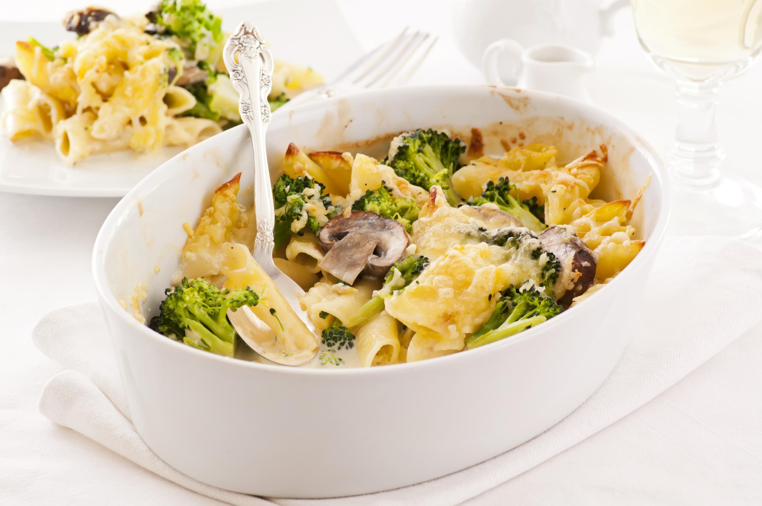 Broccoli and Cheese Pasta Casserole