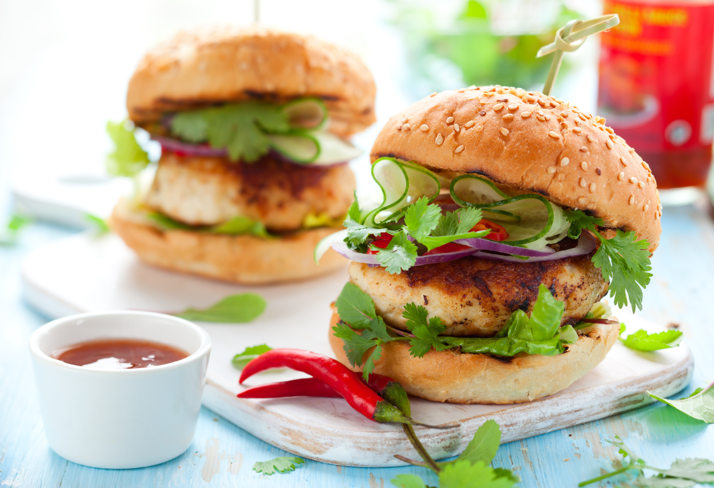 Sweet & Spicy Thai Burgers
