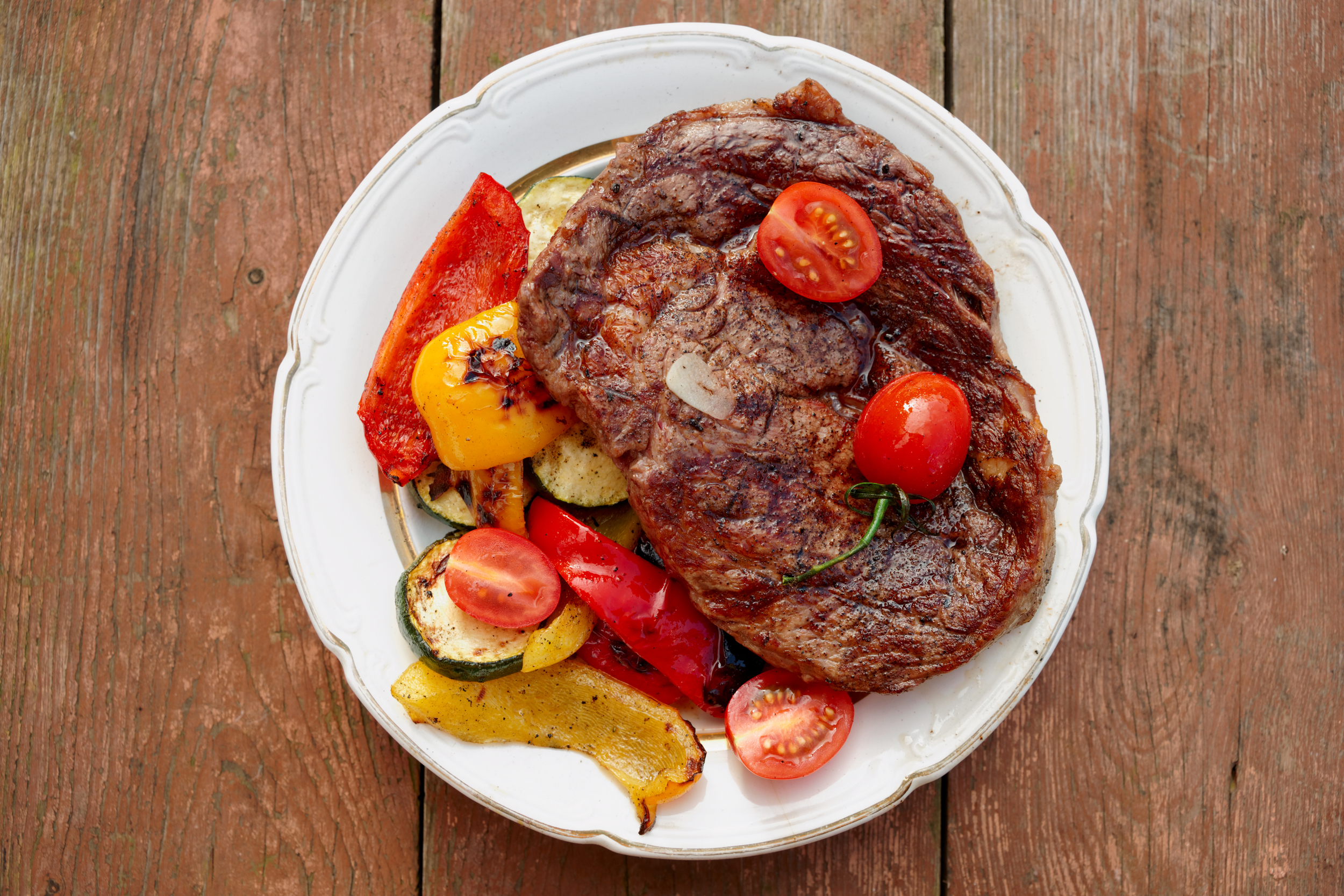 Ribeye with Roasted Vegetables