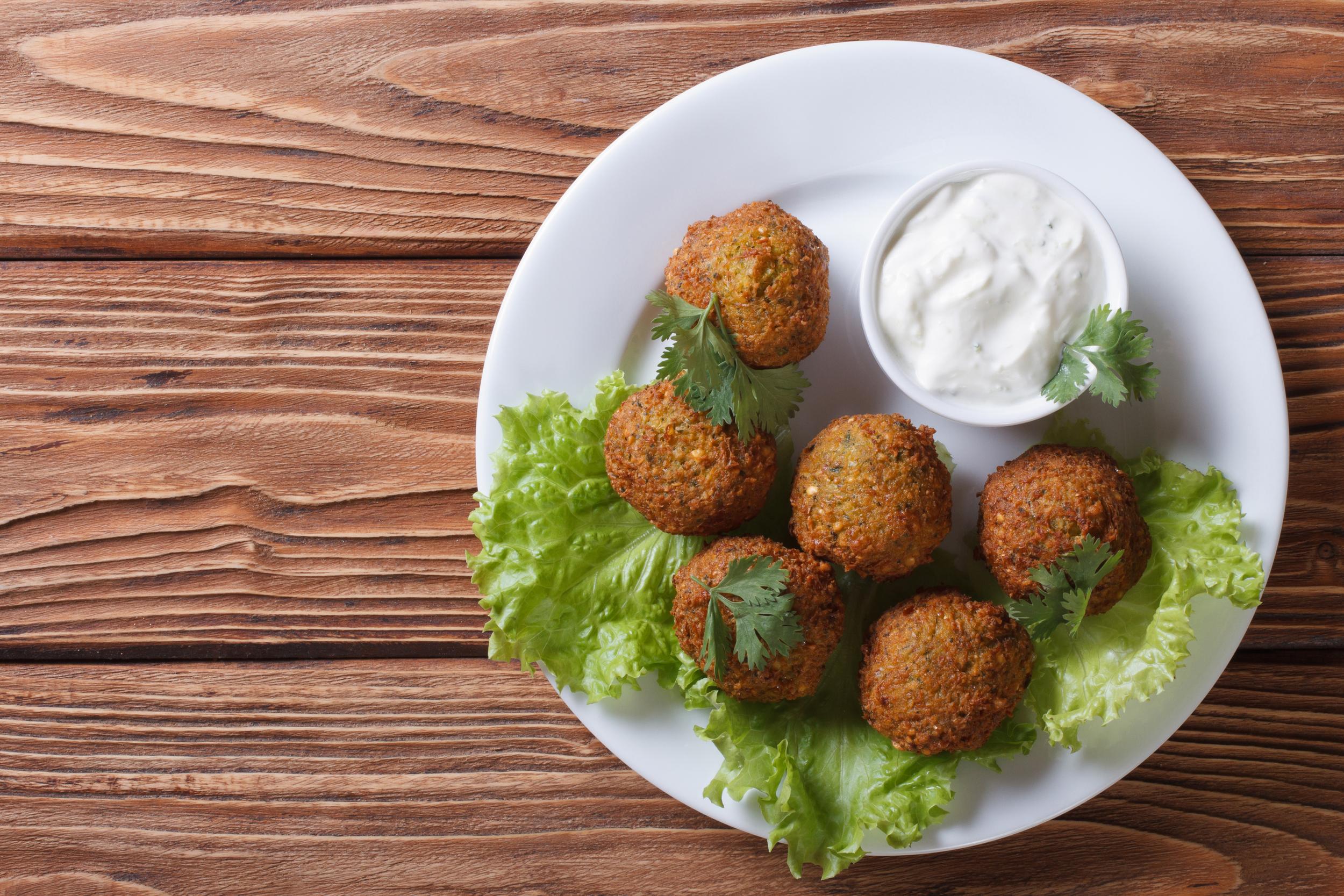 Falafel and Tzatziki Sauce