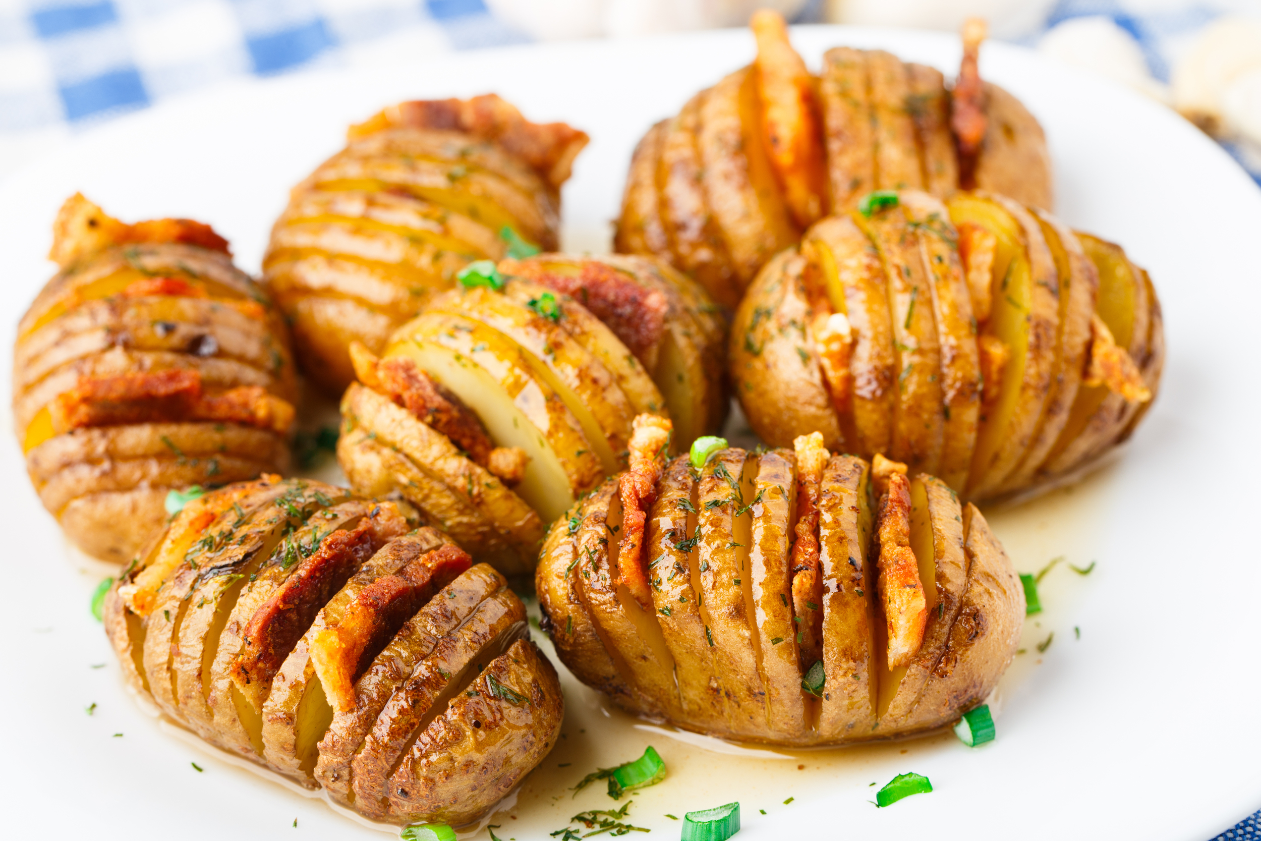 Bacon Hasselback Potatoes
