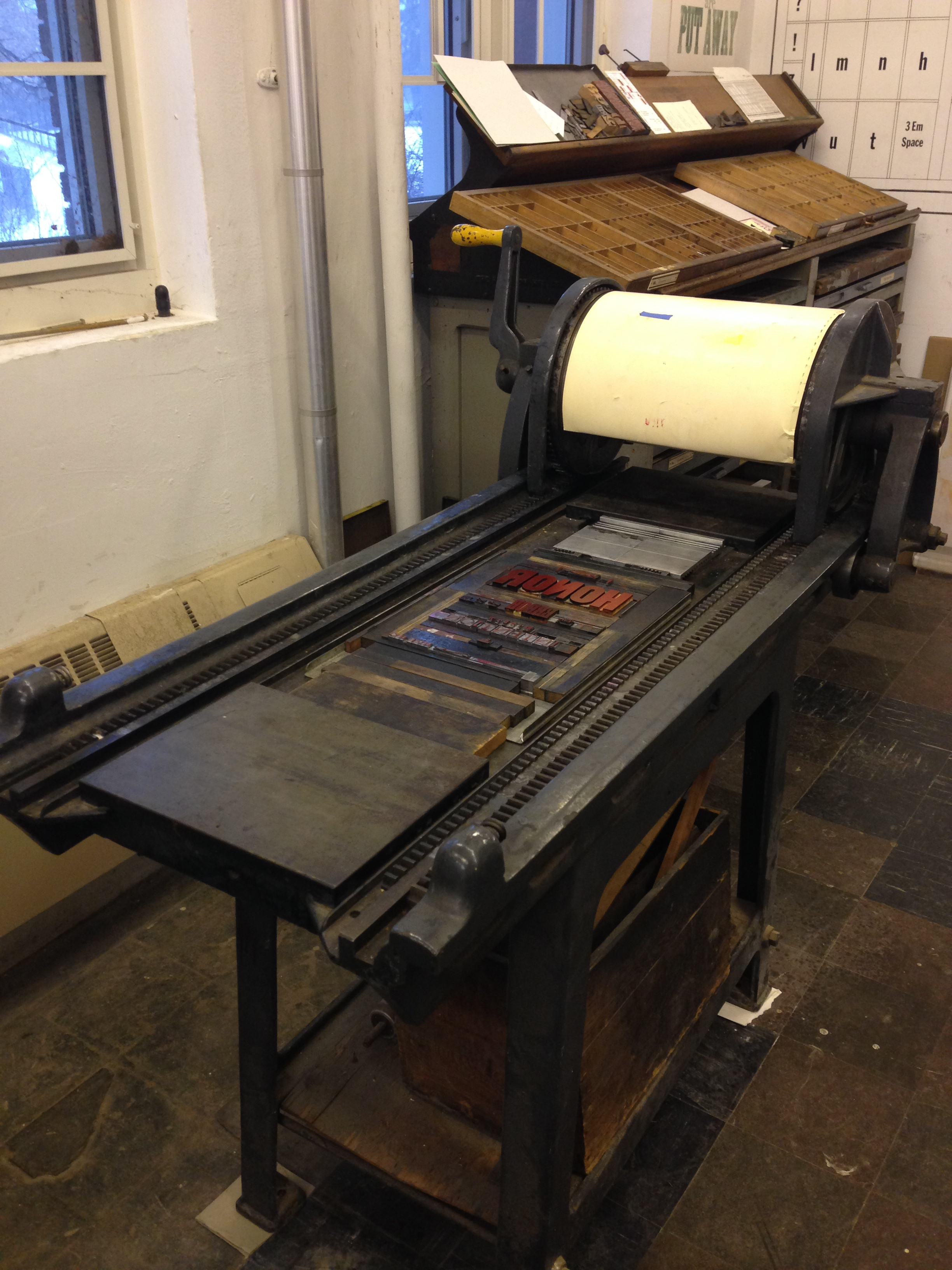 The proofing press I worked on.